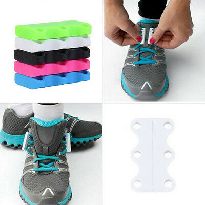 1 Pair Plastic Sport Shoes Closure No-Tie Magnetic Casual Shoelace Shoe Buckles