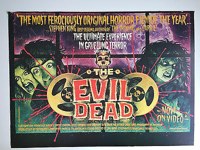 The Evil Dead UK Quad poster original from Palace Pictures office  not folded