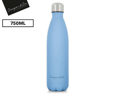 750ml Insulated Stainless Steel BPA Free Flask Water Bottle - Matte Finish Blue
