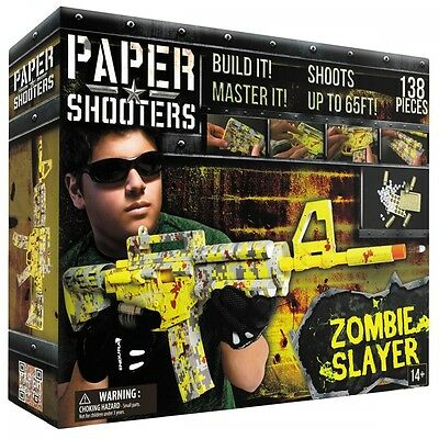 Paper Shooters Construction Kit Bausatz Tactician Zombie Slayer Gewehr Papier