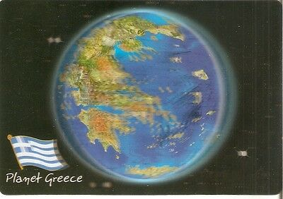 ♥3D POSTKARTE♥stereo postcard♥ the earth - from Greek view