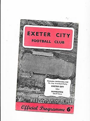 Exeter City v Nuneaton  FA Cup 1st Round Replay 13/12/1967