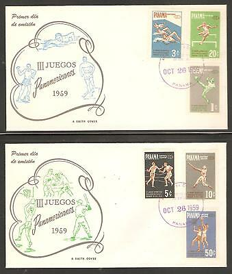 Panama 26 October 1959 3rd Pan American Games FDC Covers of Complete Set