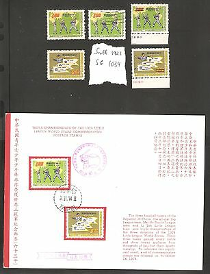 Taiwan 1974 Baseball - SPECIMENS, Mint MNH UMM, Used and Publicity Bulletin,