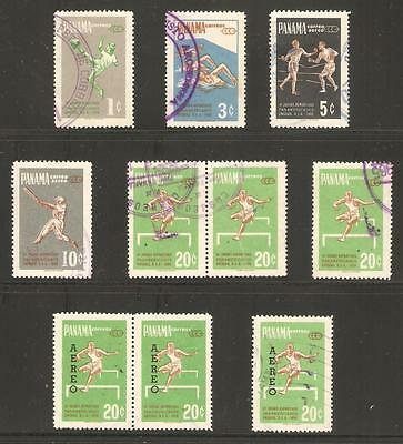 Panama 1959 & 1963 Assorted Used Sports Stamps