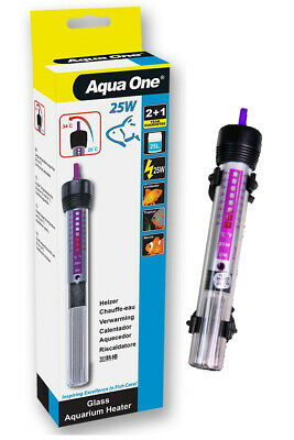 Aqua One Automatic Aquarium Fish Tank Water Thermostat 25W Submersible Heater