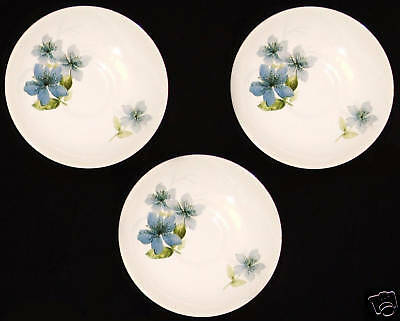 3 Beautiful Vintage Crown Lynn New Zealand Saucers