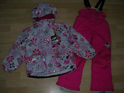 ROMEO & JULIETTE Girls Pink Fleece Lined Ski Suit Snow Salopettes Age 6 NEW