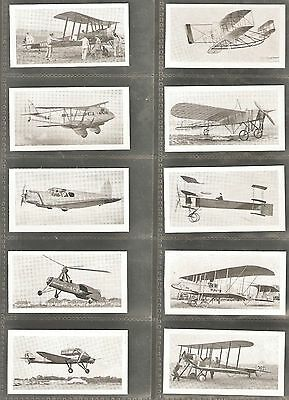 "Set of 25 R&J Hill ""Aviation Series"" Cigarette Cards 1934"