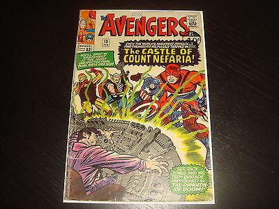 THE AVENGERS #13  Silver Age Lee Kirby Marvel Comics 1965  VG