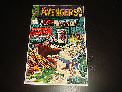 THE AVENGERS #18  Silver Age Lee Heck  Marvel Comics 1965  VG
