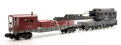 American Flyer S Gauge Industrial Crane Wagon With Support Wagon (T3)
