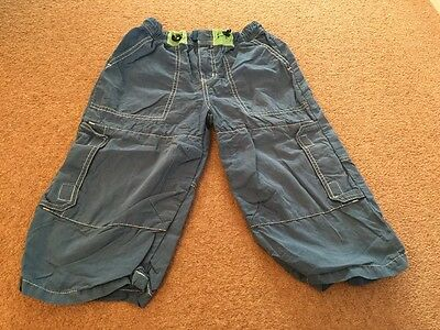 Boys 3/4 Length Blue Cargo Trousers Age 9-10 Years
