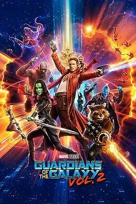"""GUARDIANS OF THE GALAXY Vol 2 POSTER """"LICENSED"""" BRAND NEW """"MARVEL COMICS"""" GROOT"""