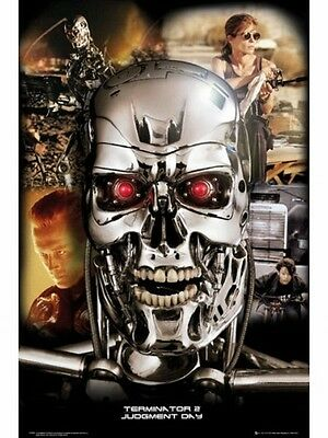 """The Terminator 2 Poster """"Judgment Day"""" Licensed """"Arnold Schwarzenegger"""" Collage"""