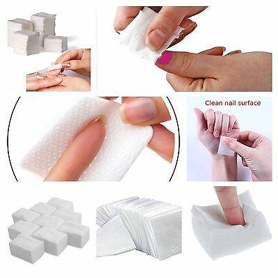 900 x LINT FREE NAIL WIPES PADS ART GEL ACRYLIC POLISH REMOVER PEDICURE MANICURE