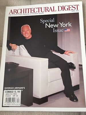 Architectural Digest Magazine April 2002 Special New York Edition