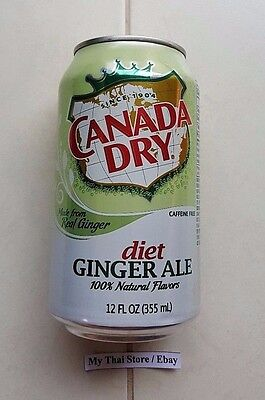 Collectible Canada Dry Can 355 Ml Ginger Ale Diet Empty Worldwide Shipping