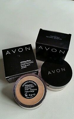 2 x AVON SMOOTH MINERALS CALMING EFFECTS LOOSE POWDER  FOUNDATION medium beige