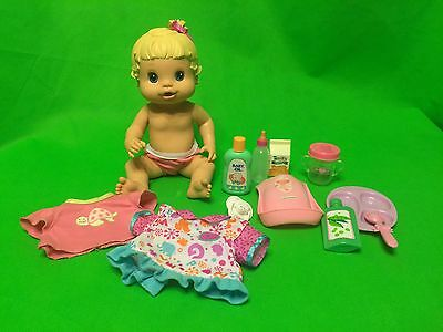 """2008 Baby Alive All Better Now Drink & Wet Dol 13""""with clothes and accessories"""