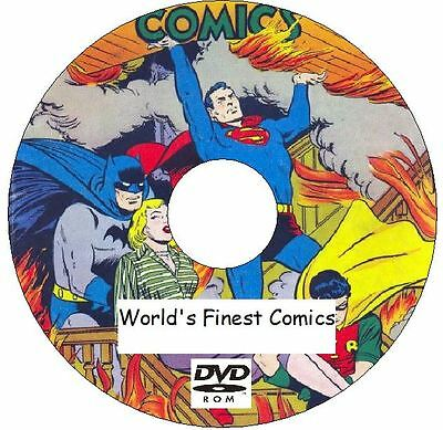 World's Finest Comics 326 Issues from 1941 - 1990 on 3 DVDs Superman Batman
