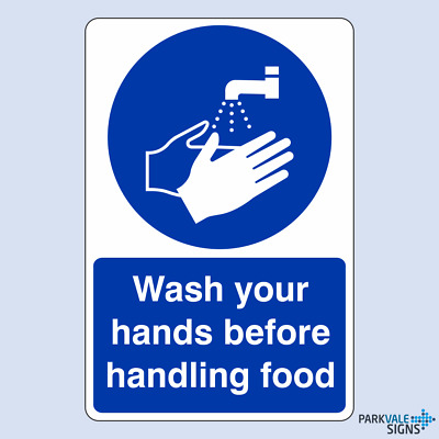 Wash Your Hands Before Handling Food Catering Sign