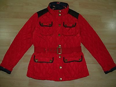 BNWOT NEXT Girls Red Quilted Coat Jacket Anorak Lined Age 15-16 NEW