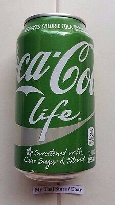 Collectible Coca-Cola Life Green Can 355 Ml Empty Worldwide Shipping