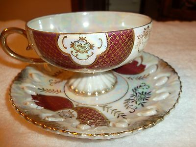 Antique Royal Sealy China Teacup & Saucer Made In Japan