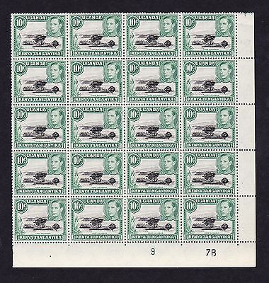 K.U.T.1938-54 10c WITH MOUNTAIN RETOUCH R6/7 SG 135a MNH.