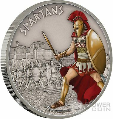SPARTANS Warriors of History 1 Oz Silver Coin 2$ Niue 2016
