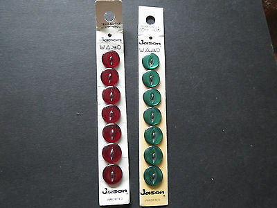 Vintage JASON LAUNDWELL BUTTONS on cards