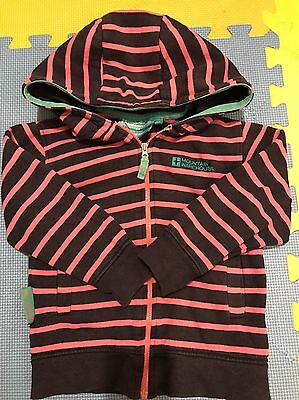 Mountain Warehouse Striped Girls Hoodie Size 3-4 Years