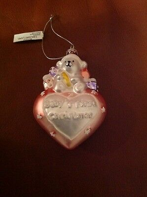 Baby's First Christmas 2014 glass Ornament