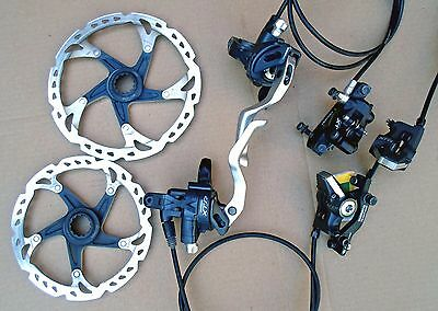Shimano XTR M975 groupset (duals, calipers, rotors)