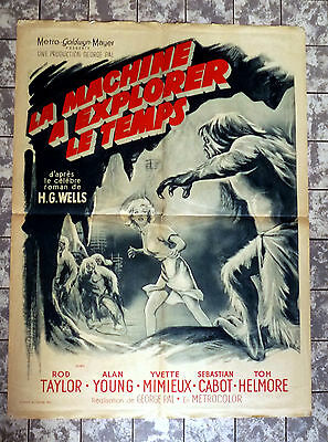 THE TIME MACHINE * Rod Taylor - French 1-Sheet Poster 23x32 - GEORGE PAL 1960