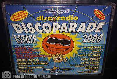 MC DISCOPARADE ESTATE 2000 Doppia Musicassetta Disco Parade