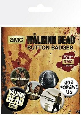 THE WALKING DEAD - Button Set - Badge Pack - Neu OVP