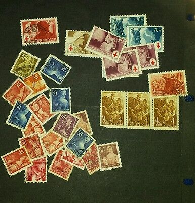 Hungary stamps mint & used 1944