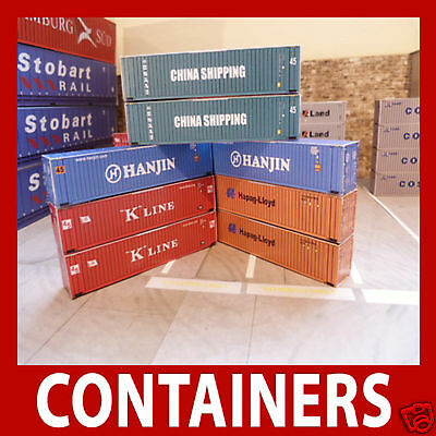 """1.220 Z Scale Freight Shipping Container Card Kits """"Mixed Set"""" x 12 Some Pre/W"""