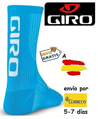 CALCETINES CICLISMO GIRO HRC TEAM, color CELESTE