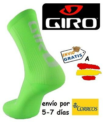 CALCETINES CICLISMO GIRO HRC TEAM, color VERDE FLUOR