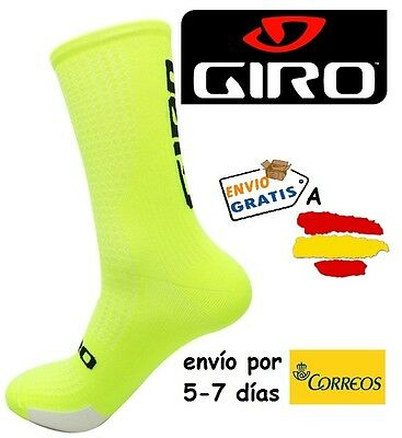 CALCETINES CICLISMO GIRO HRC TEAM, color AMARILLO FLUOR