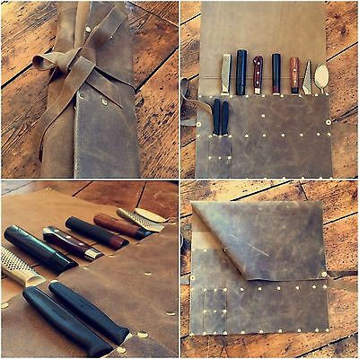 Leather Knife Roll - Handmade in the UK