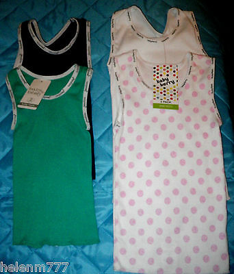 Baby Boy Girl 2 Pack Singlets Vest Rib Cotton Colours & Design Baby Singlet