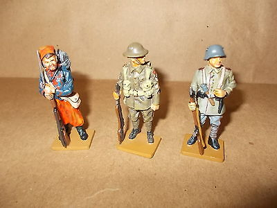 Del Prado 3 Ww1 Figures - German,british,french -From The Men At War Collection