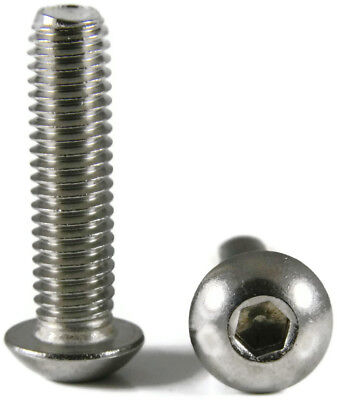 Stainless Steel Button Head Screw 100/PCS #8-32 x1/2