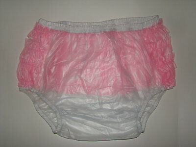 New Soft Adult Baby PVC frilly pull-on Plastic Pants #P003-7 Size: XXLarge