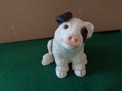 Vintage Young Pig  in Resin - Signed U.D.C. and dated 1984 - Nice!