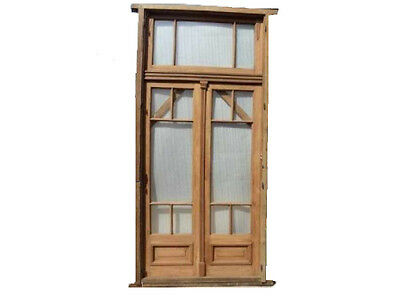 Wooden Double Patio Door w/ Transom #C1069